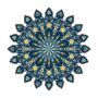 Round mandala. Arabic, Indian, Islamic, Ottoman ornament. Green,