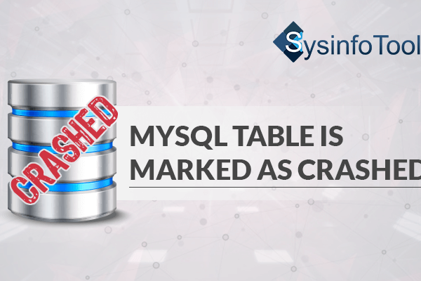 Table is marked as crashed